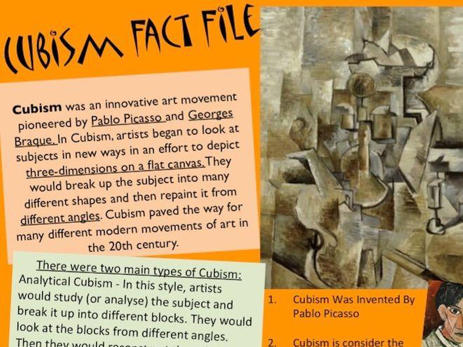 Cubism Fact File