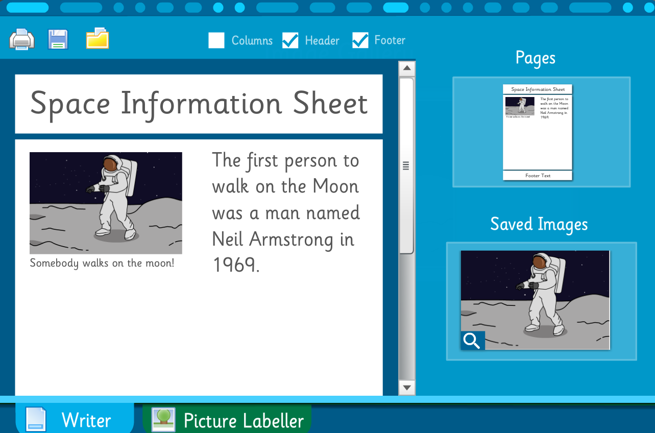 Make Your Own Information Book: Planets and Space - Interactive Activity - KS2 Literacy