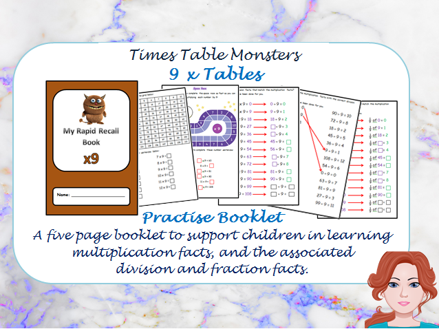 9 x Tables Practise Booklet