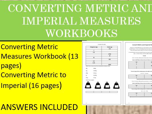Converting Metric and Imperial Measures Workbook