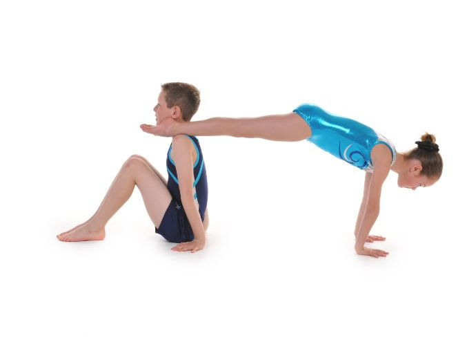 Pair and Trio Gymnastics - Front and Back Support Balances by Head Over Heels Gymnastics