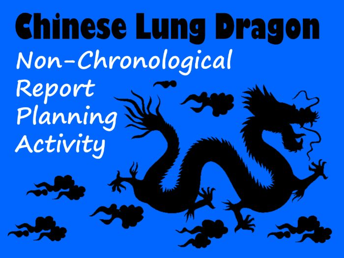 Chinese Dragon Non-Chronological Report Example, Feature Identification & Answers