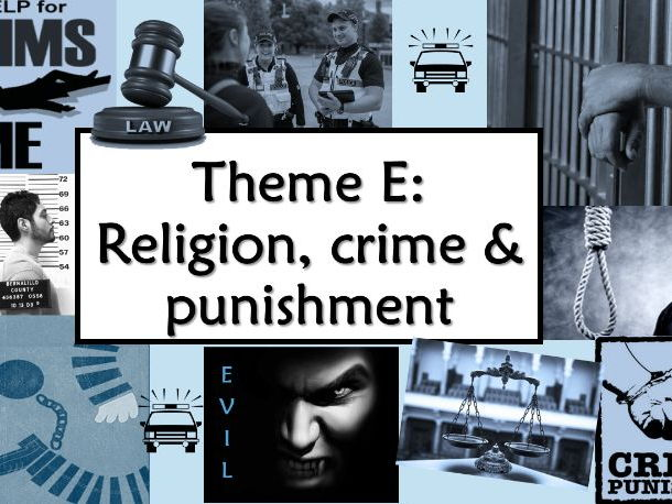 RE GCSE AQA Religion, Crime and Punishment - Lesson 1 Types and causes of crime
