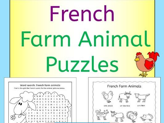 French Farm Animal Puzzles - les animaux de la ferme