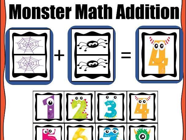Addition Halloween Math Mat