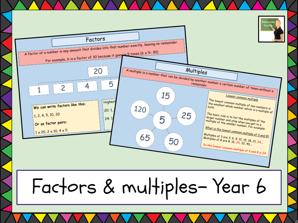 Maths- factors and multiples lesson- Year 6