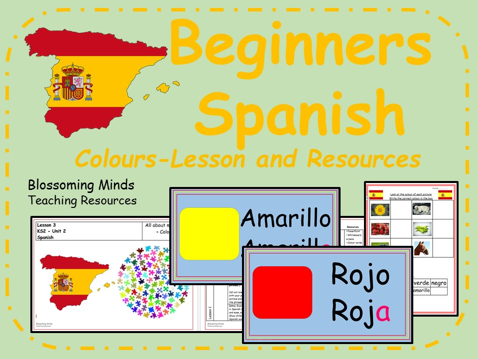 Spanish lesson and resources - KS2 - Colours
