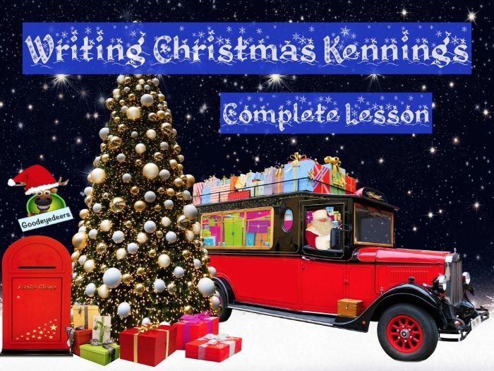Christmas - PowerPoint Lesson - Writing  Cool Christmas Kennings