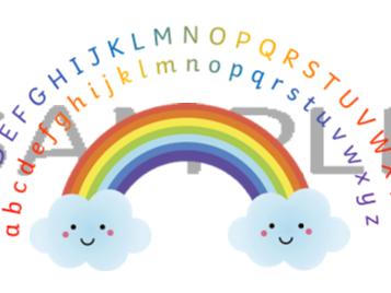 Capital Letter Rainbow