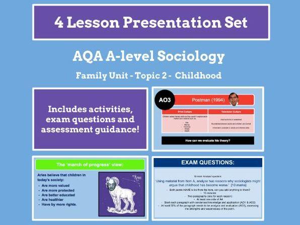 Childhood - AQA A-level Sociology - Family Unit - Topic 2