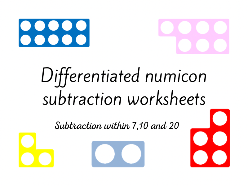 Differentiated Numicon Subtraction