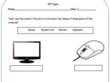 Parts Of A Computer Worksheet By Afreenkh Teaching Resources Tes