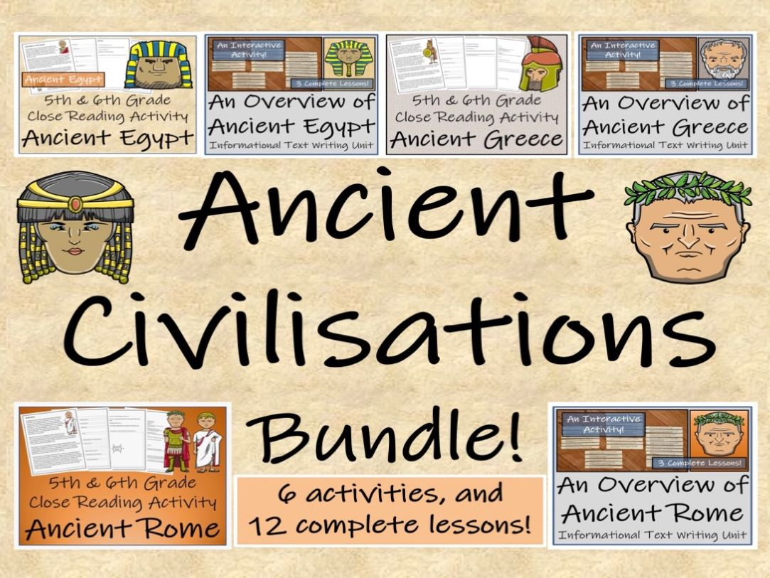 UKS2 History - Ancient Civilisations - Bundle of Informational Text Writing Units & Reading Comprehension Activities