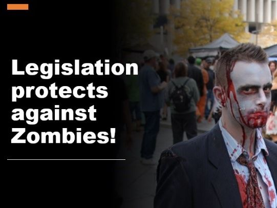 Teaching Legislation Zombie style