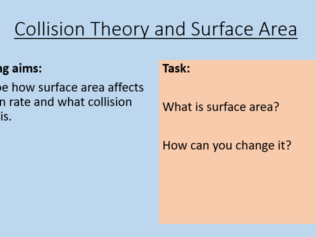 AQA C8.2 Collision theory and surface area