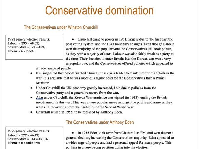 Britain 1951-1997 OCR HISTORY