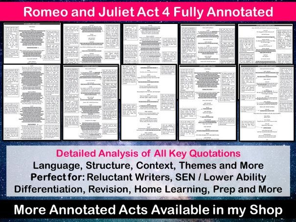 Romeo and Juliet Act 4 Fully Annotated