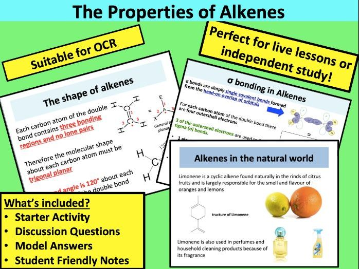AS Chemistry: The Properties of Alkenes