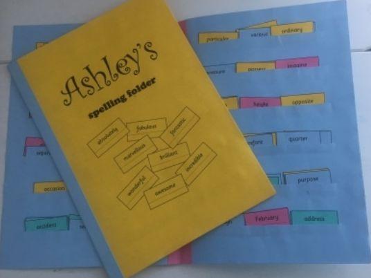 y3-4 Spelling Folder