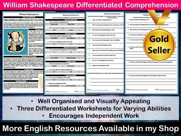 William Shakespeare Differentiated Comprehension