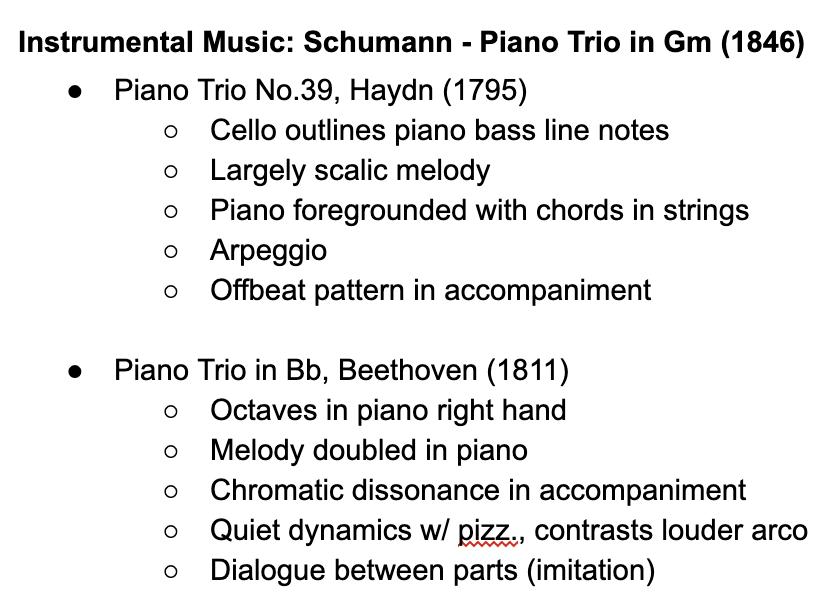 Edexcel A Level Music: Schumann Further Works
