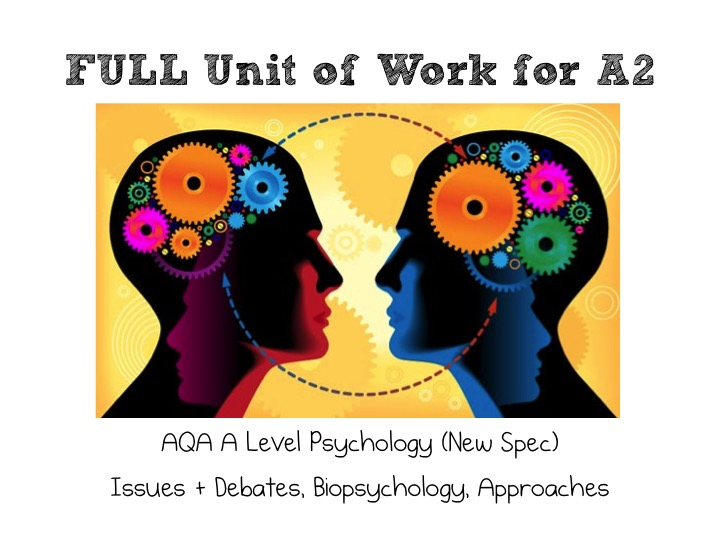 AQA A Level Psychology (New Spec): Lesson Bundle FULL Unit of Work for A2