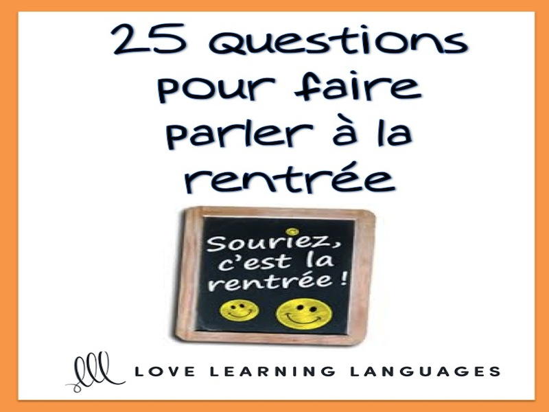 La Rentrée Scolaire French Task Cards - Beginner French Level