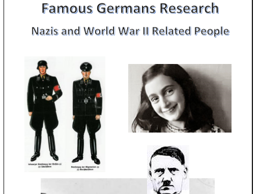 Famous Germans: Nazis and World War II Related Guides