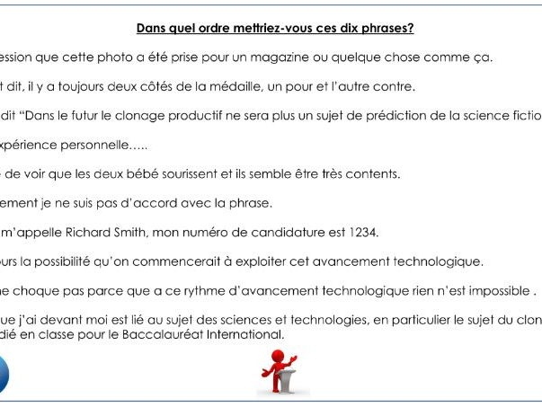 French IB speaking preparation pack - La santé and Sciences et technologies