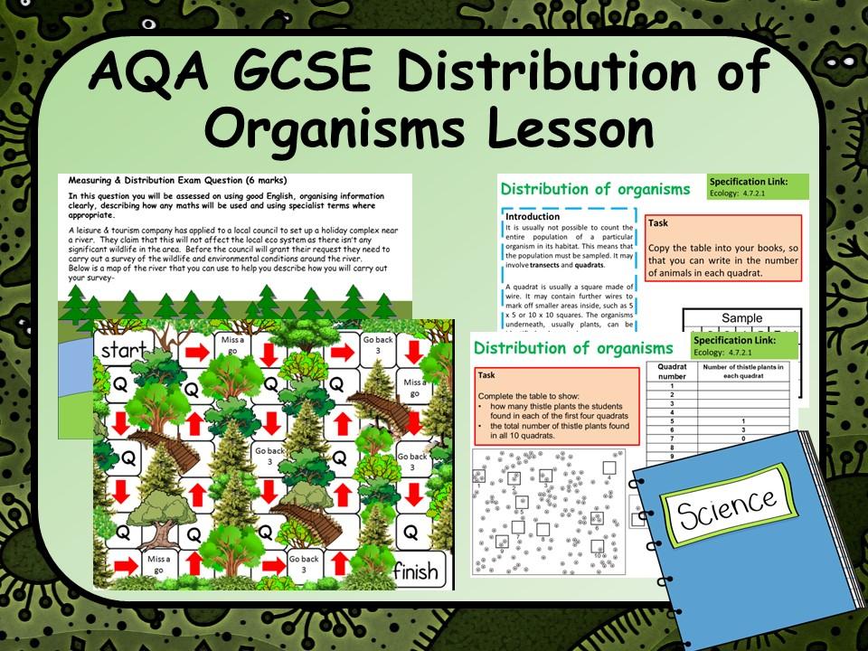 AQA GCSE KS4 Science Measuring Distribution of Organisms Lesson