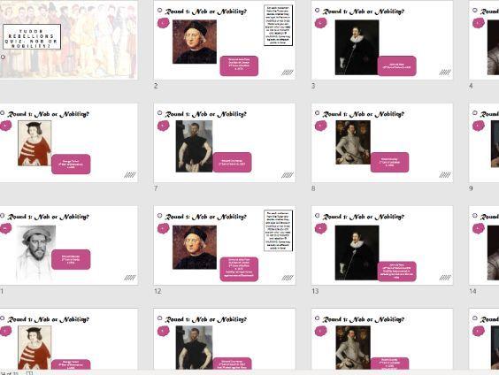 Tudor Rebellions Epic Revision Quiz