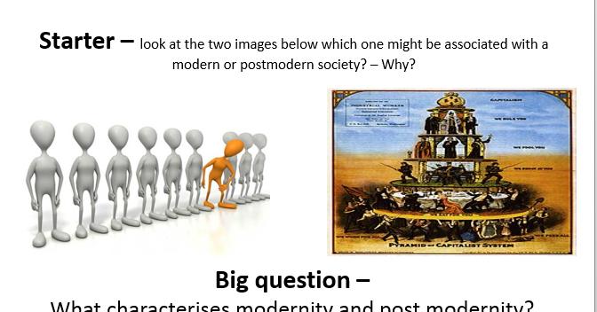 Modernity and Postmodernity