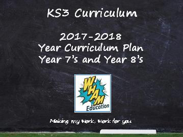 KS3 AQA Curriculum Plan 2017-2018
