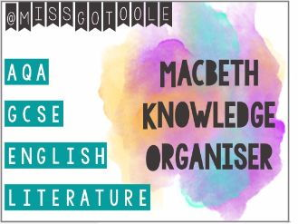 Macbeth Knowledge Organiser/ Revision Mat (AQA)