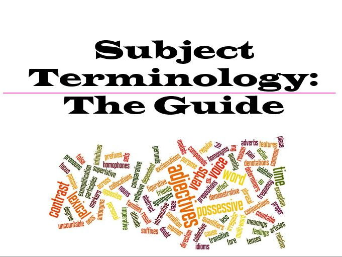 English Language Subject Terminology Revision Guide