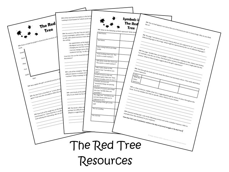The Red Tree - Shaun Tan - Worksheets