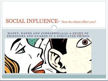 GCSE Psychology Edexcel- Social influence (Zimbardo's Stanford Prison experiment)