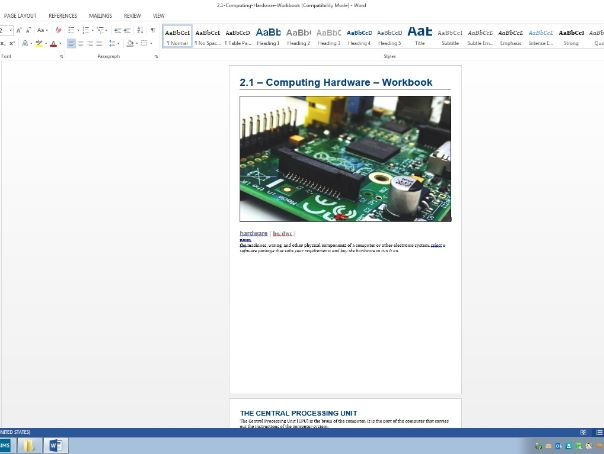 Computing hardware workbook