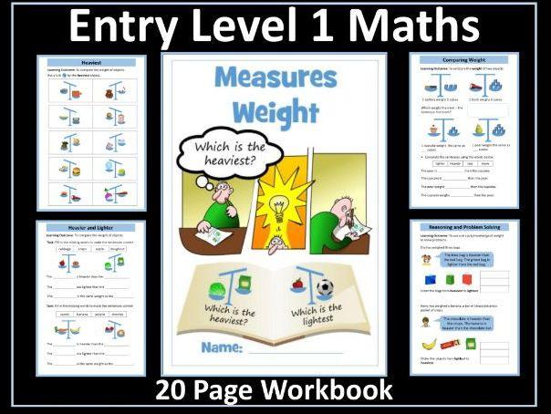 Weight Workbook: AQA Entry Level 1 Maths