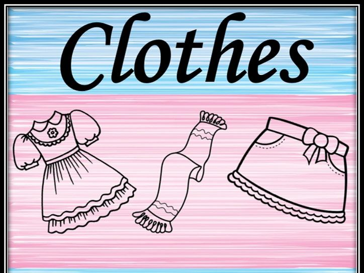 Clothes. Colouring pages.