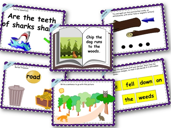 Phonics Powerpoint, Phase 3, Week 10 (revision + are)