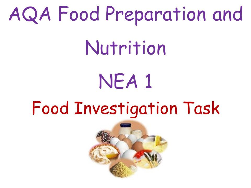 AQA Food Investigation Task NEA1