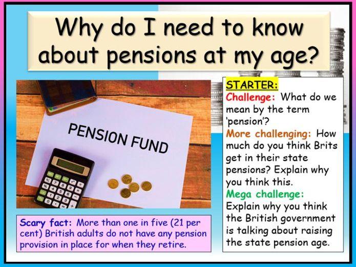 KS5 PSHE - Pensions