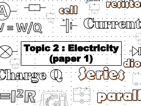 AQA physics GCSE 9 - 1 exam revision booklet electricity topic 2 trilogy
