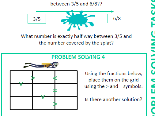 Order and compare fractions less than one