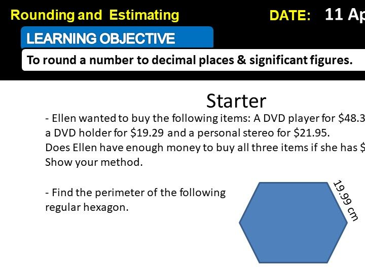 Rounding and Estimation