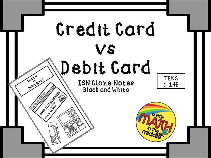 Credit Card versus Debit Card ISN Notes