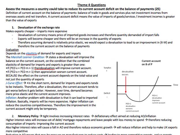 Macroeconomic Questions- A level economics