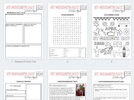 St George's Day Activity Pack