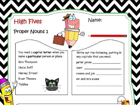 High Fives - Proper Nouns